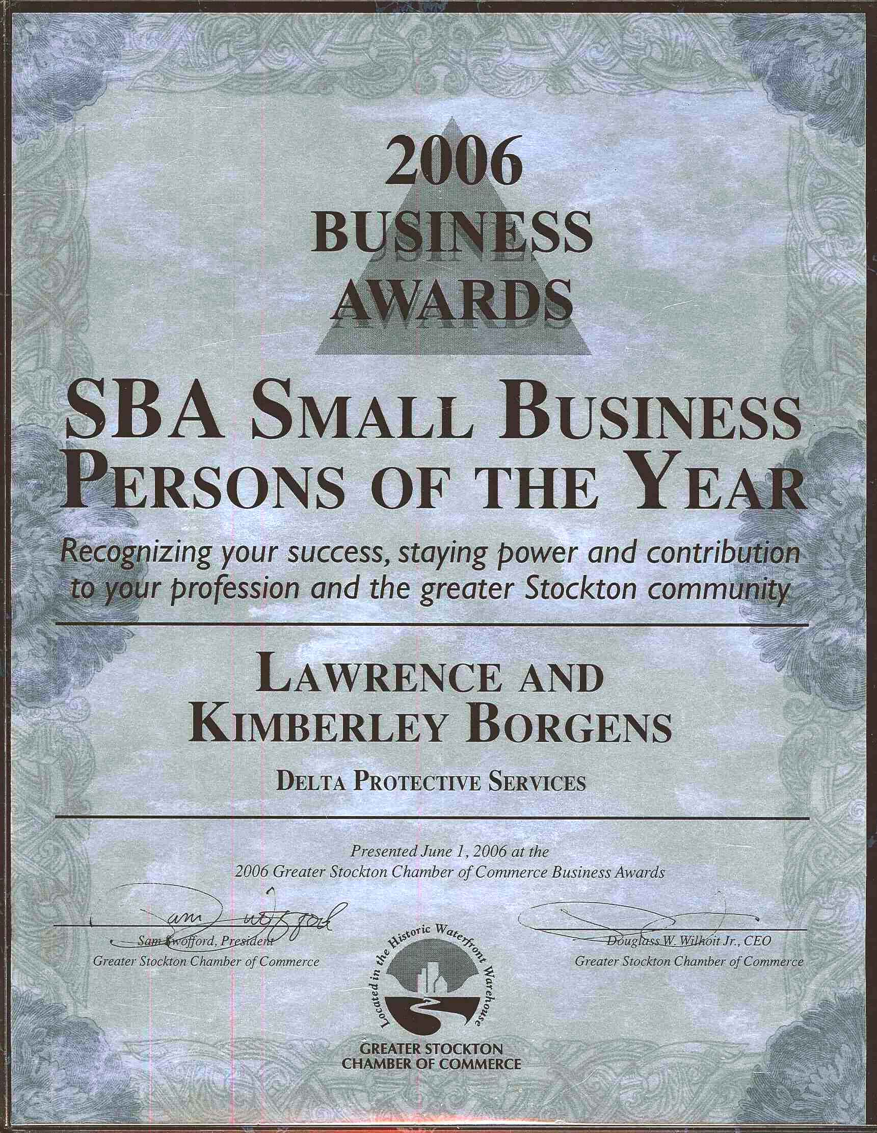 Business Persons of the Year - Kimberley and Lawrence Borgens